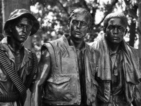 The Three Servicemen Statue of the Vietnam Veterans Memorial