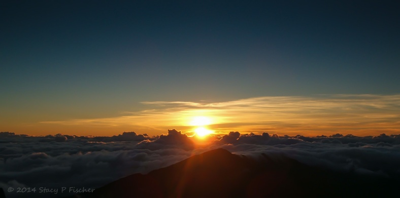 Sunrise from the Haleakala Volcano