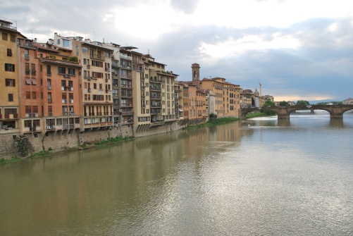 Arno Riverfront, Florence, Italy (unedited image)