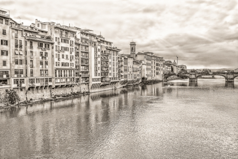 Arno River Old Time Photo