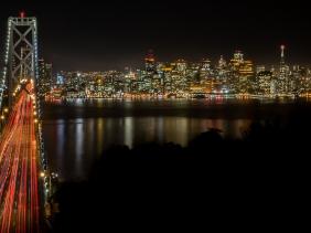 Oakland Bay Bridge, Night, San Francisco, California