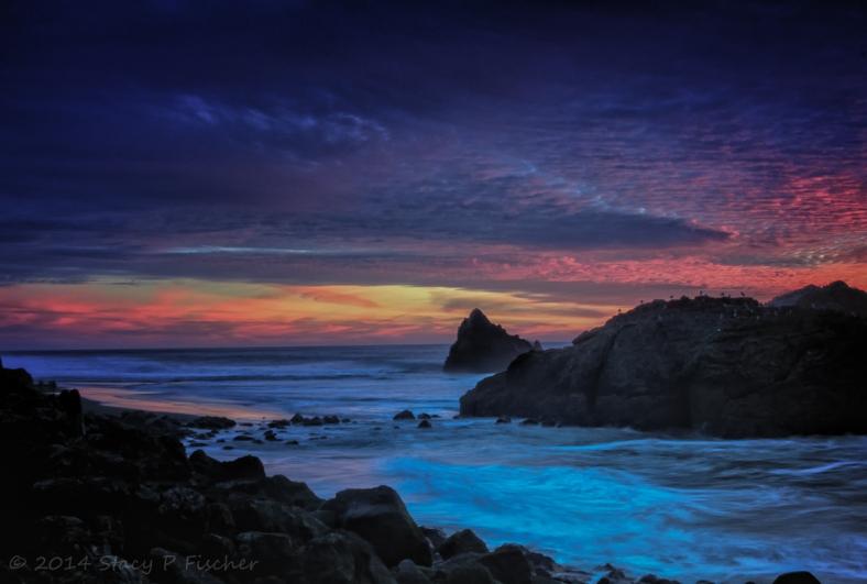 Sunset at Seal Rocks, Lands End, San Francisco