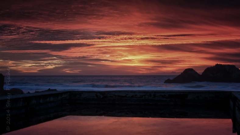 Sutro Baths sunset