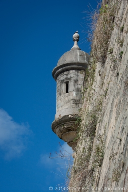 Unedited photo of guerita (sentry box) on San Juan's fortified wall.
