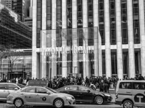 Apple Store, New York City, adorned with Monochromia logo