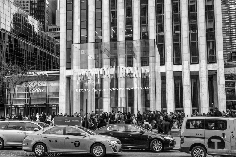 Apple Store, New York City, adorned with Monochromia logo