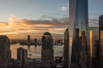 One World Trade Center, sunset.