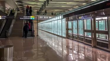 AeroTrain stop, Dulles International Airport, outside Washington, DC