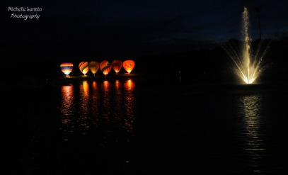 Balloons at night