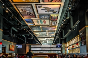 Ceiling art, Red Robin, Flatiron Crossing, Broomfield, Colorado