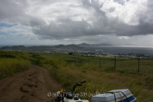 St. Kitts Quad Biking, view of Basseterre and cruise ship (no filter)