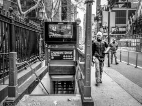 NYC subway Chambers Street Station entrance