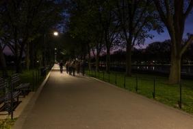 walkway reflecting pond