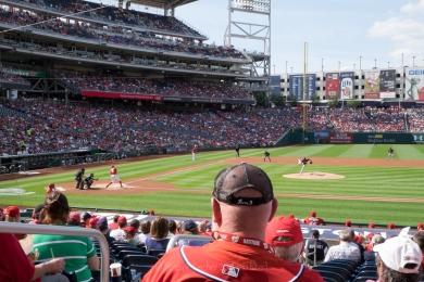 Nationals baseball game, Nats at bat, no filter