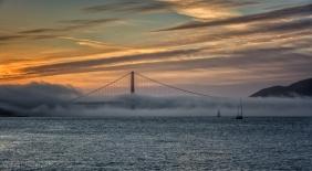 Golden Gate sunset fog