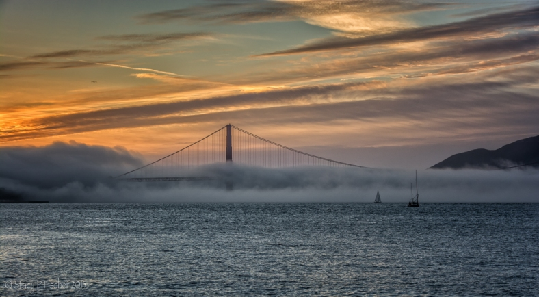 Golden Gate sunset fog