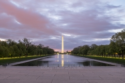 Washington Monument, dawn, unedited HDR composite