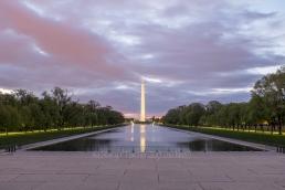 Washington Monument, dawn, unedited HDR composite