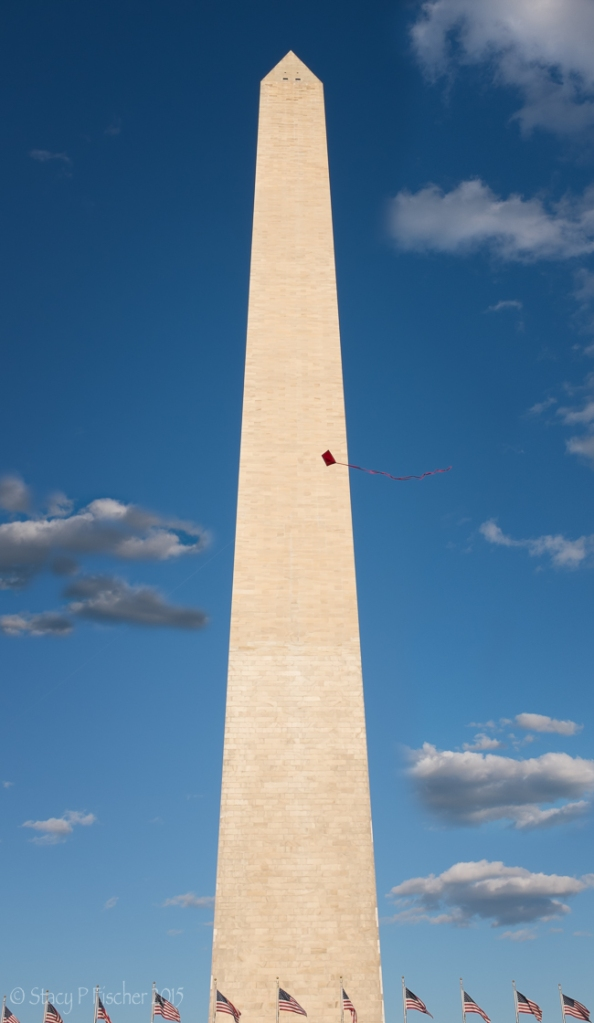 Washington Monument and a red kite