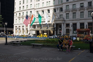 Unedited image, Plaza Hotel New York City, exterior front entrance