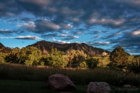 Sunrise over the Boulder, Colorado Flatirons