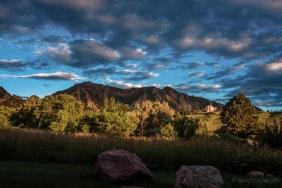 Sunrise over the Boulder, Colorado Flatirons