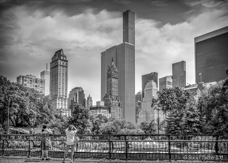 View from Wollman Rink of Central Park East NYC skyline