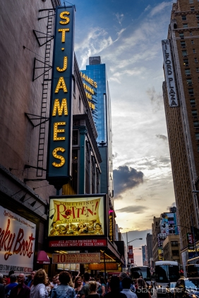 "St. James Theater Marquee ""Something Rotten"""