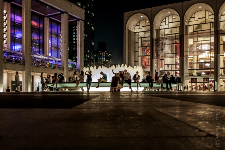 Lincoln Center Fountain at night