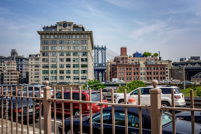Manhattan Bridge from Brooklyn Bridge pedestrian walkway