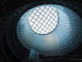Sky Reflector Net Artwork in the Dome of New York City's Fulton Center subway and retail center.
