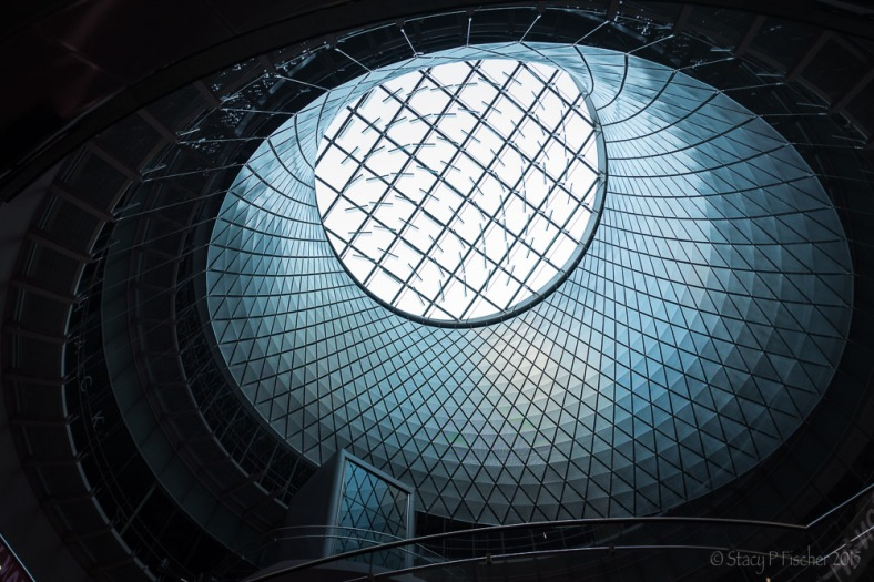 Sky Reflector-Net Artwork in the Dome of New York City's Fulton Center subway and retail center.
