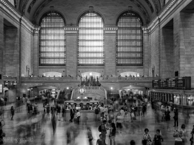 Blur of passengers in Grand Central Station