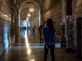 New York City Library Hallway
