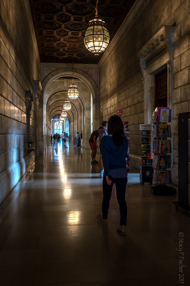 New York City Library Hallway