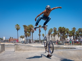 Skateboarder, Venice Beach Skatepark, California