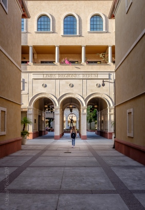 USC Cinematic Arts Courtyard