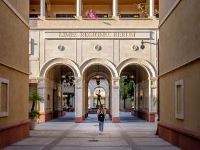 USC Cinematic Arts Courtyard