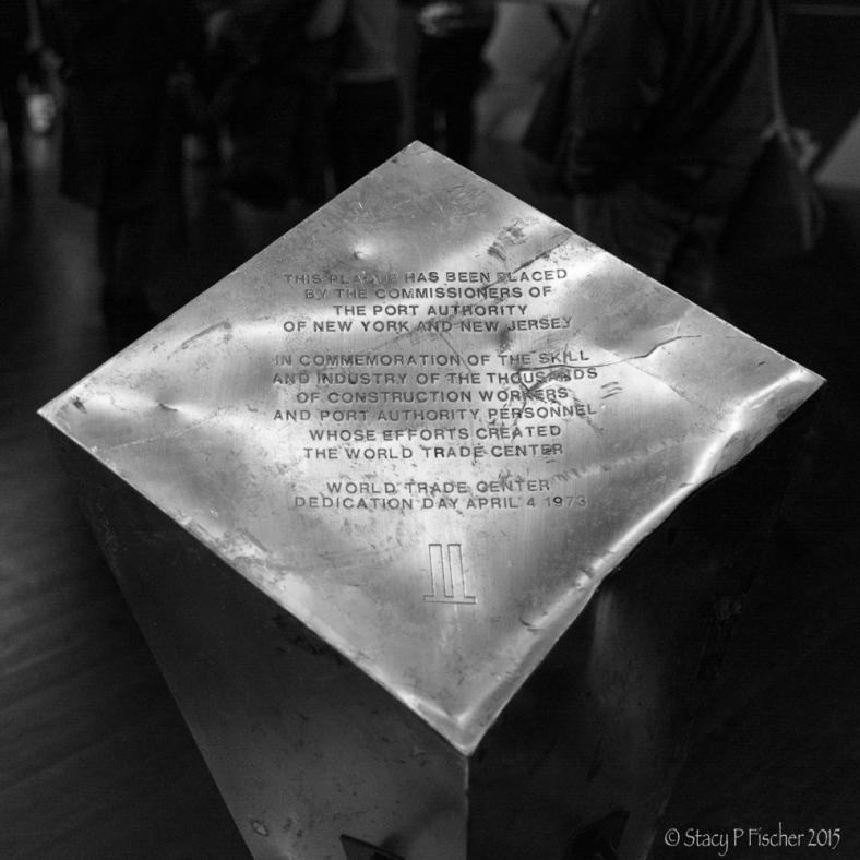 World Trade Center Dedication Pedestal, 9/11 Memorial Museum