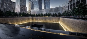 Nighttime Panorama of 9/11 Memorial