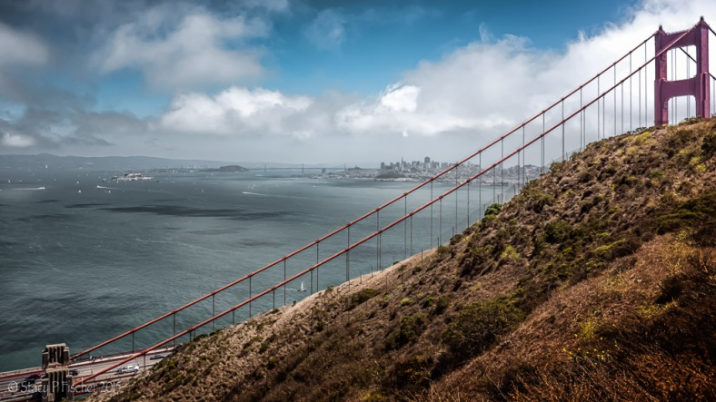 San Francisco Bay and Golden Gate from Battery Spencer
