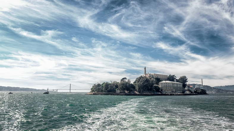 Alcatraz Island seen from Alcatraz ferry