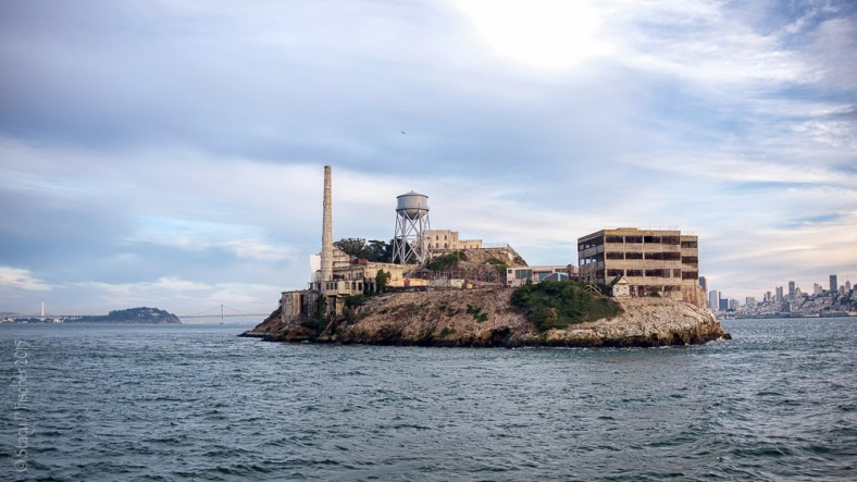 North side of Alcatraz Island seen from Alcatraz ferry