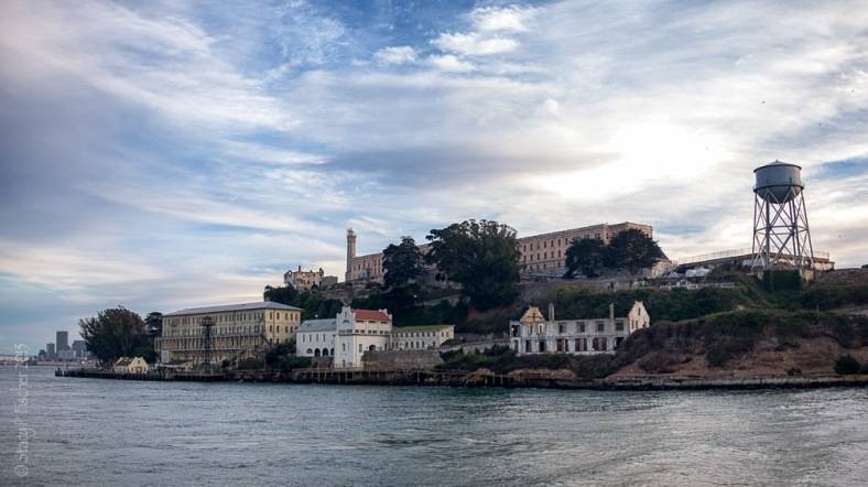 East side of Alcatraz Island seen from Alcatraz ferry
