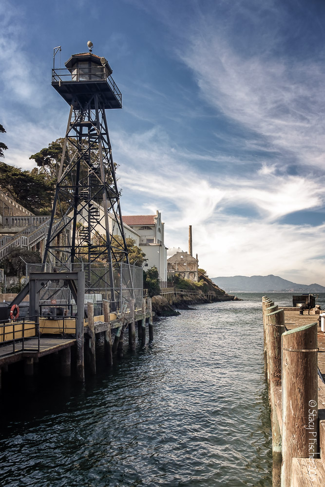 Alcatraz Island Dock and Guard Tower