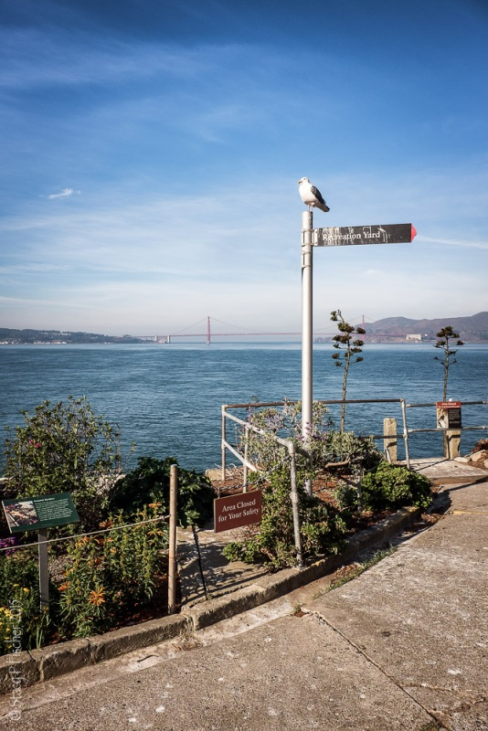 Alcatraz Island Recreation Yard Sign