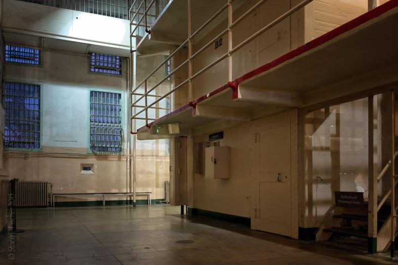 Alcatraz Stairs Walkways to Upper Cells