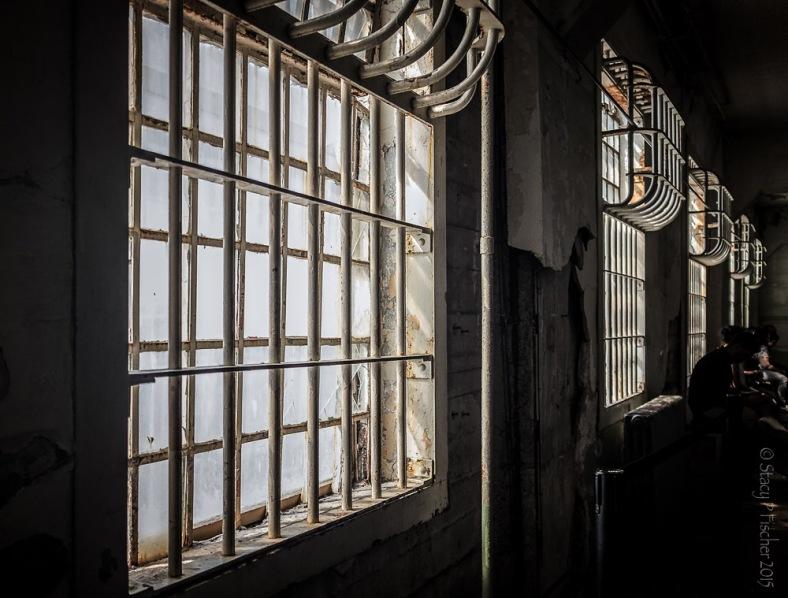 Barred Window Alcatraz Dining Hall