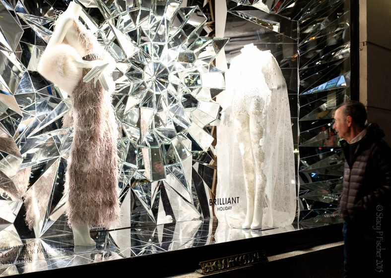 "Bergdorf Goodman 2015 Christmas Window white ""Brilliant Holiday"""