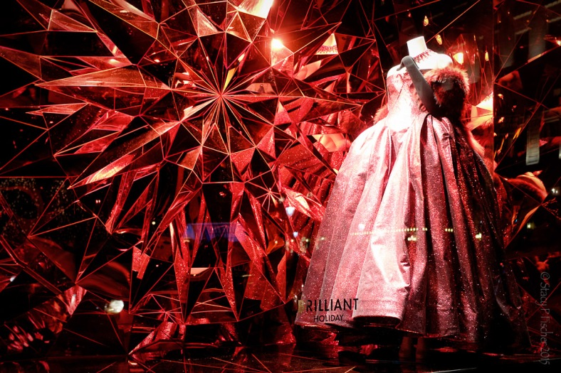 "Bergdorf Goodman 2015 Christmas Window red ""Brilliant Holiday"""